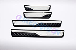 Car Door Sill Scuff Plate Guards Protector For Honda Civic Hatchback 2017-2018