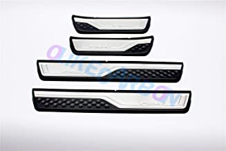 OLIKE for Honda New CR-V CRV 2017 2018 2019 Fashion Style Door Sill Scuff Plate Guard Sills Protector Trim (Outside)