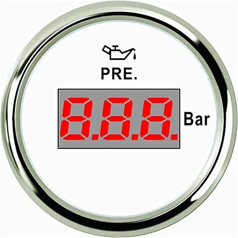 TONG 1 year warranty Digital Oil Pressure Gauge Backlight with 2021 new 52mm Meter 0-5bar