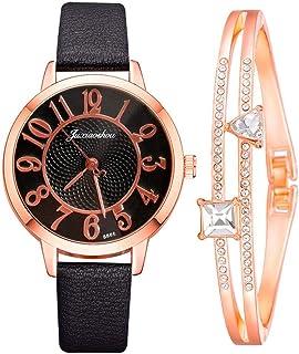YUEMEI Reloj De Diamantes De Agua Con Pulsera De Estrella De Cinco Puntas, Moda Minimalista Elegante Con Reloj De Cuarzo P...