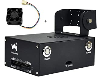 Metal Case (Type C) with 5V PWM Fan for Jetson Nano Developer Kit Original B01 Version, with Camera Holder Compatible with Waveshare IMX219 Camera, IMX219 83 Stereo Camera, for Jetson Nano