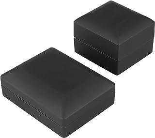 LFLF (Noir Affichage De Bijoux LED Pendentif Collier Coffre-Cadeau Boîte De Fiançailles Boîte De Fiançailles