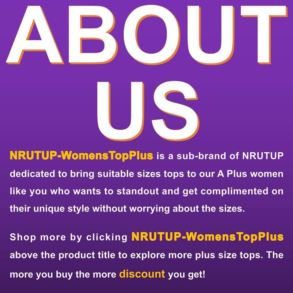 Waffle Knit Tunics Blouse Tops Plus Size Women, NRUTUP V-Neck Pullover T-Shirt Colorblock Long Sleeve Oversize Shirt