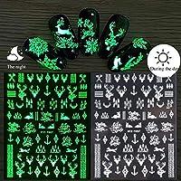 発光効果3Dクリスマススノールステッカーキラキラネイルアート装飾ステッカーマニキュアのヒントツールネイルデザインアクセサリー (Color : 7)