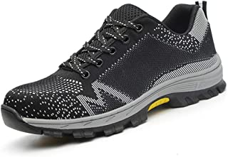SHANLEE Men's Labor Insurance Shoes Breathable Industrial Construction Sports Shoes