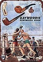 Kaywoodie Pipes Boxing 金属板ブリキ看板警告サイン注意サイン表示パネル情報サイン金属安全サイン