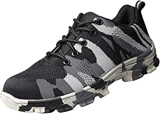 Baosity Steel Toe Shoes Men, Work Safety Sneakers Lightweight Industrial Construction Shoes, Premium - Gray-43