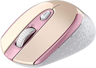 Rechargeable Wireless Mouse, Cimetech 2.4G Computer Mouse Cordless Optical Mice for Laptop, Slim Quiet Wireless Mouse with...