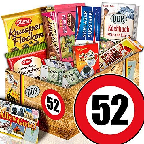 Geschenk zum 52. Geburtstag / DDR Box Schoko / Geschenke zum 52 Geburtstag Frau