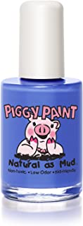 Piggy Paint 100% Non-toxic Girls Nail Polish - Safe, Natural Chemical Free Low Odor for Kids, Blueberry Patch, 0.5 Fluid Ounce
