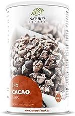 Nature's Finest Nibs de cacao Bio 250g | Superalimento orgánico, puro y natural | Alto contenido en Proteínas, Fibra, Hierro y Magnesio | Vegetariano y vegano