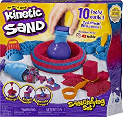MIX, SHAPE AND SQUISH LIKE NEVER BEFORE: The included 10 tools and 2lbs of sand let you transform Kinetic Sand like never before! Mix the two sand colors together, then mold it, shift its shape, scoop it and grate it – the possibilities are endless! ...
