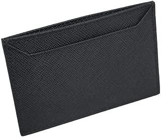 Black Nero Saffiano Men's Leather Wallet Credit Card Holder Case Bill 2MC208