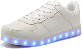 LED Light Up Low-Top Shoes 11 Color Patterns, USB Rechargeable, Sneakers for Men, Women