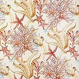 Dekostoff Canvas Korallenriff – rot — Meterware ab 0,5m