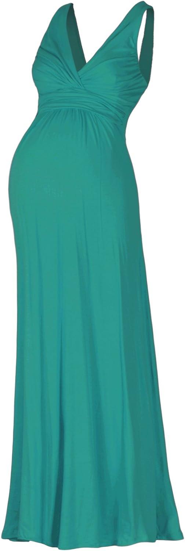 Beachcoco Women's Maternity Sleeveless V Neck Maxi Dress Made in USA