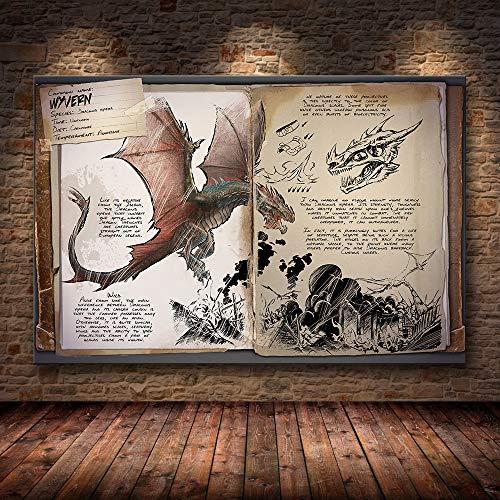 GGLLBL Poster-Ark: Survival Evolved Poster Hits New Canvas Poster Dekoration Wandbild Tapete Wohnzimmer Dekoration rahmenlos 50 x 70 cm