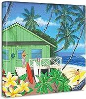 ハワイ アロハ ポスター おしゃれ インテリア 模様替え リビング 内装 サーフ 夏 海 ファブリックパネル hrk8 20x25cm