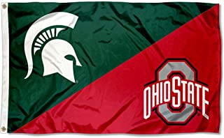 Michigan State vs Ohio State House Divided 3x5 Flag Rivalry Banner