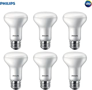 Philips LED Dimmable R20 Soft White Light Bulb with Warm Glow Effect 450-Lumen, 2700-2200-Kelvin, 6-Watt (45-Watt Equivalent), E26 Base, Frosted, 6-Pack
