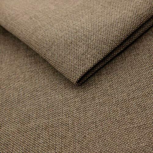 Teker Mona Polsterstoff Möbelstoff Meterware - z.B. Stoff für Stühle oder Eckbank Bezug- Mocca Braun