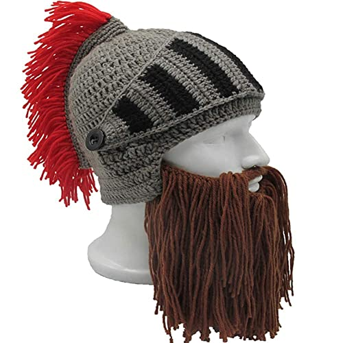 daf81386f3d Flyou Wig Beard Hats Handmade Knit Warm Winter Caps Ski Funny Mask Beanie  for Men Women