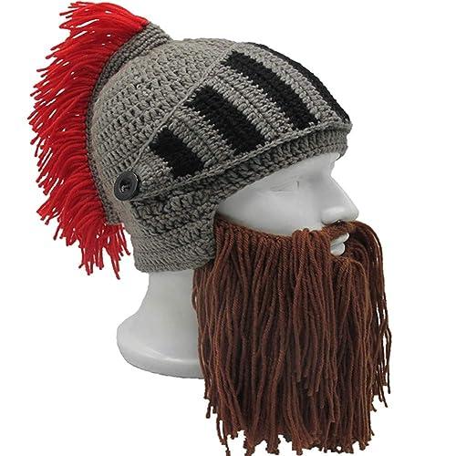 9dca74002a2 Flyou Wig Beard Hats Handmade Knit Warm Winter Caps Ski Funny Mask Beanie  for Men Women