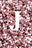 J notebook: Sequin pink notebook, Monogram notebook/journal. letterJ personalized notebook/journal/dairies for writing and taking notes .notebook for ... for girls .glossy finish 6×9 inches 120 pages