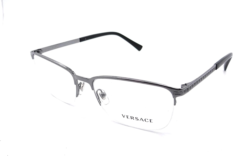 Versace Men's Eyeglasses VE1263 Raleigh Mall All items free shipping VE 1263 Half Gold 1002 Optic Rim