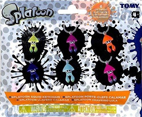 Splatoon Squid Keychain Sealed 4 Packs