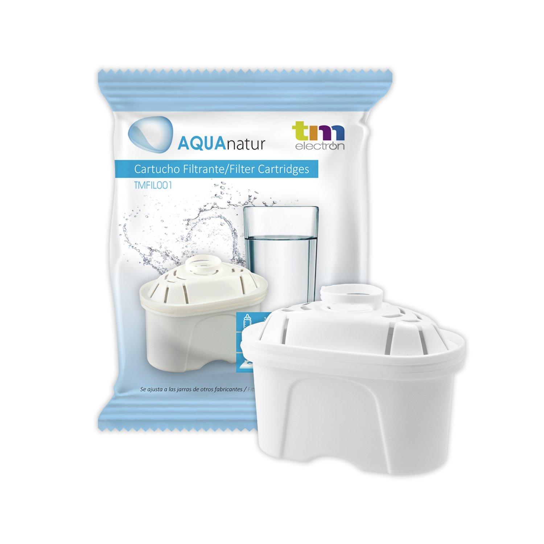 TM Electron Tmfil001 30 a 60 días compatible con las jarras brita maxtra, 1 cartucho de filtro purifica de 100 a 200 litros de agua, Malla de plástico, Blanco, 1 Unidad: Amazon.es: Hogar