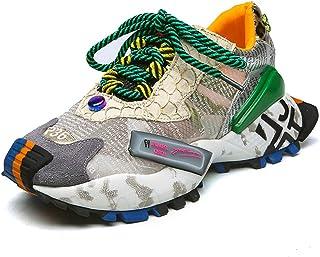 Lady Chunky Shoes Casual veterschoen Platform Antislip Fashion Sneakers Gemengde kleuren Ademende mesh Graffiti sportschoenen