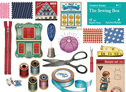Active Minds Creative Scenes Magnet Puzzles | Easy Jigsaw Games for Seniors and Elderly with Dementia and Memory Loss (The Sewing Box)