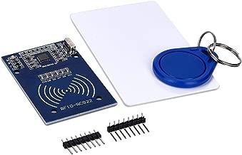 kwmobile Lector de Llaves con Tarjeta - Tarjetero RFID Arduino y Genuino - Módulo Lector de Tarjetas RC522 RF S50 - Kit Sistema de identificación