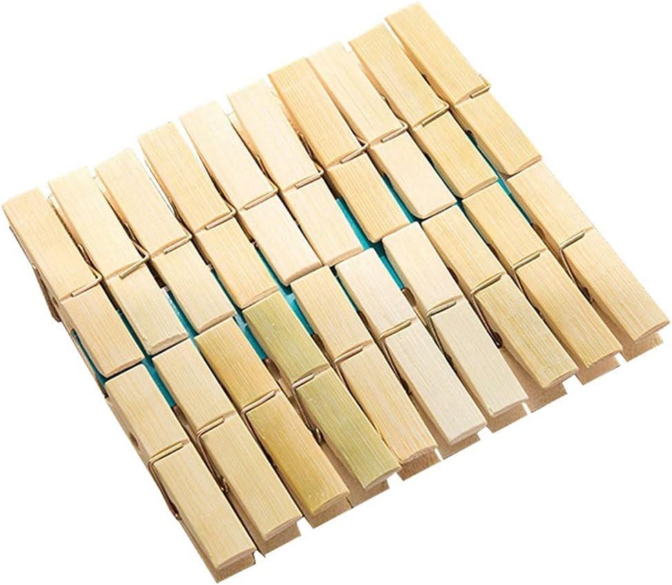 Dedication DEI QI Brand Cheap Sale Venue 40 Pcs Wooden Clothespins Clothes  2.3X Inches 0.4