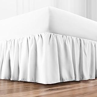 (Twin, White) - BL Ruffled Bed Skirt - White - Twin