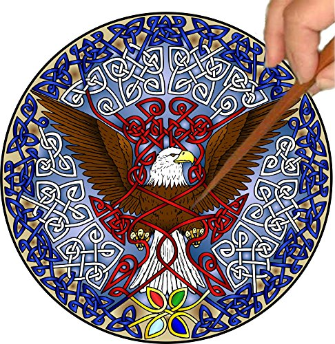Mandalynths Celtic Eagle Mindfulness Art for Stress, Anxiety and Attention Management