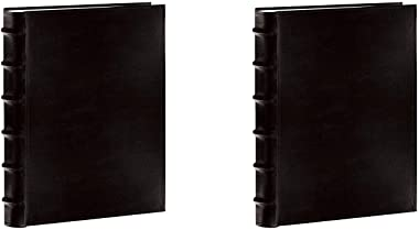 """Pioneer Sewn Bonded Leather BookBound Bi-Directional Photo Album, Holds 300 4x6"""" Photos, 3 Per Page. Color: Black. Two Pa"""
