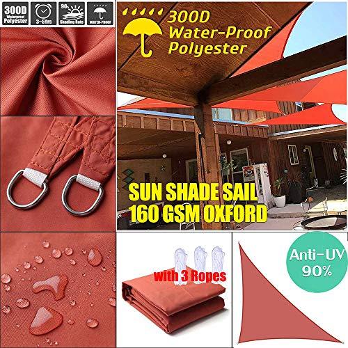CHY-ZTQ - Toldo protector solar para jardín, patio, fiesta, 98% bloque UV, color antracita, rojo óxido, 4*4*5.7m