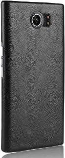 حافظة هاتف بلاك بيري PRIV حافظة هاتف خلوي درع صلب 360 درجة لحماية هاتفك من الجلد الحبيبي لهاتف بلاك بيري PRIV