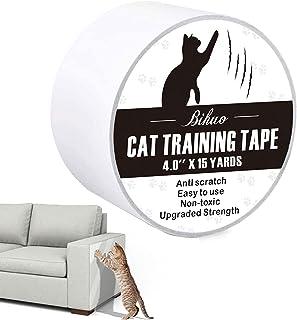 Bihuo Anti Cat Scratch Tape, Double Sided Cat Scratch Deterrent Sheets 4 Inches X 15 Yards Cat Scratch Protector Clear Sti...