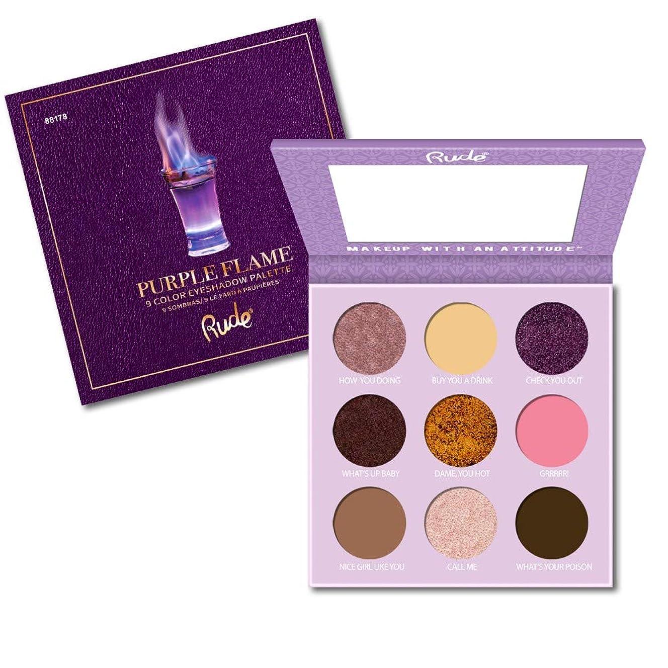 幾分略す砦(3 Pack) RUDE Cocktail Party 9 Color Eyeshadow Palette - Purple Flame (並行輸入品)