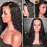 YMS Human Hair Wigs for Women 150% Density Curly Full Lace Human Hair Wigs Pre Plucked with Baby Hair Glueless Full Lace Wigs Human Hair (12 inch,Full Lace Wig)