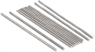 YXQ M3 x 100mm 304 Stainless Steel Rod Fully Right Hand Threads(12Pcs)