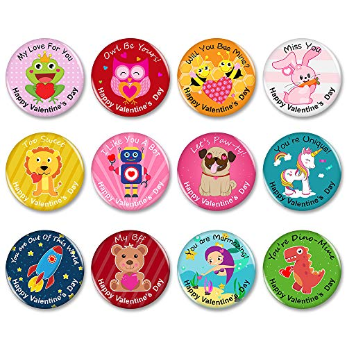 Lowest Price! Valentine's Day Novelty Buttons Badge Decorations,Jewelry,Pins,12 Various Designs - ...