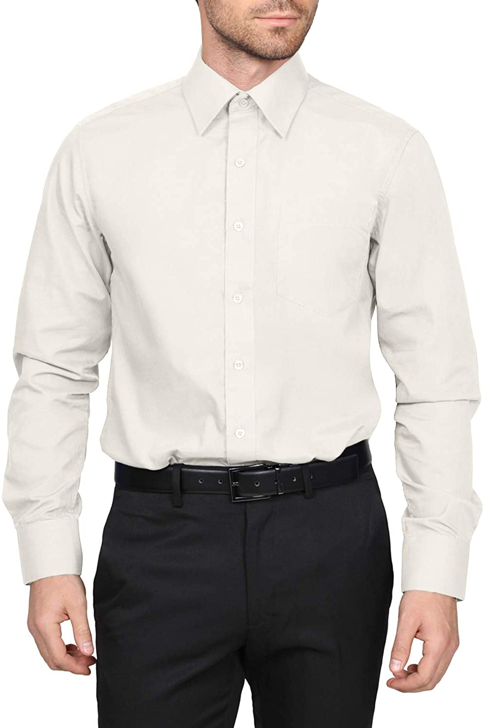 Max 81% OFF NE PEOPLE Men's Classic Regular Fit Free shipping Button Down Soli Long Sleeve