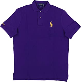 Polo Ralph Lauren Mens Classic Fit Mesh Medium Gold Pony Polo Shirt