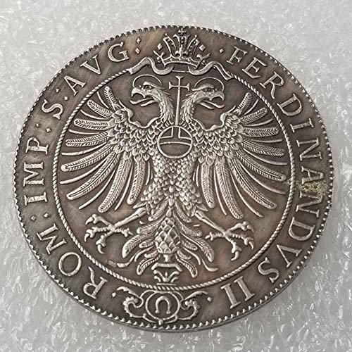 DDTing Antike Deutsche Morgan Silber-Dollars – 1624 Siebenbürgen/Rumänien Alte Münze zum Sammeln – Silber-Dollar Old Original Pre Morgan Dollar GoodService
