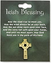 Celtic Cross With Green Stone Lapel Pin - Perfect Irish Gift