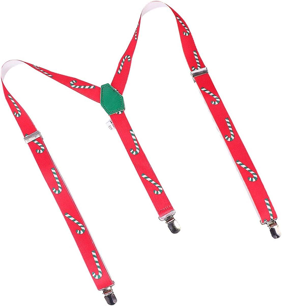 OSALADI Mens Suspenders Adjustable Elastic Suspenders for Birthday Wedding Party Christmas Holiday Supplies